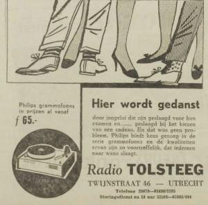 Advertentie Radio Tolsteeg