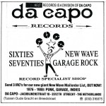 Advertentie Da Capo Records