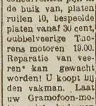 advertentie Frans Bijdevier