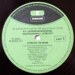 Vrede van Utrecht - vinyl label