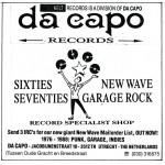 Advertentie Da Capo Records