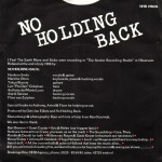 No Holding Back - achterkant hoes
